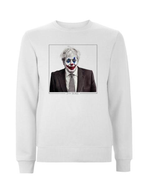 Limited edition F*** boris white sweatshirt