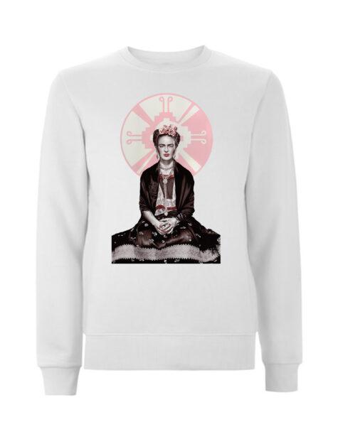 White Frida Kahlo Sweatshirt