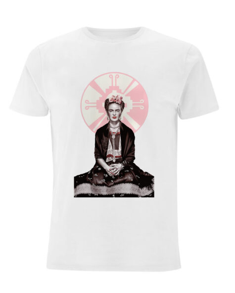 White Frida Kahlo T-Shirt