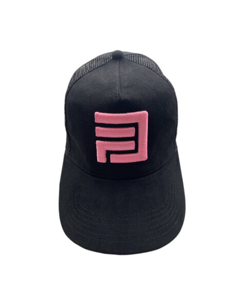 Dripp Factory trucker mesh cap - Pink with black embroidery
