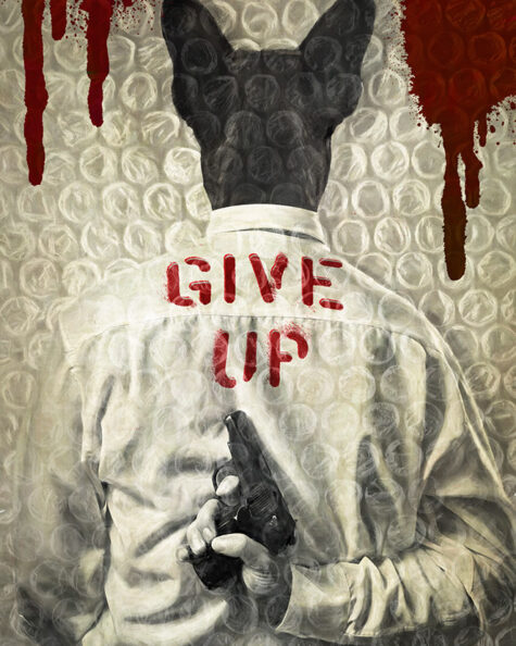 Give Up, print by Jack Savage